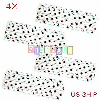 4X MB-102 830 Point Prototype PCB Solderless Breadboard Protoboard