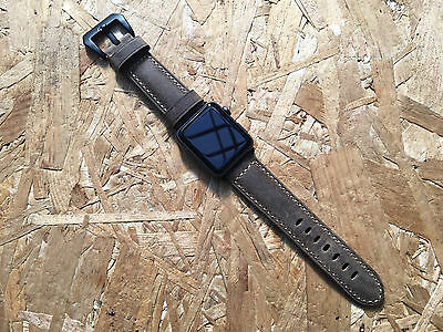 Quality Vintage Rust Brown Leather Watch Strap Band For Apple Watch Series2 42mm