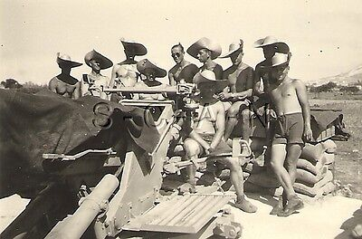 WWII German Luftwaffe RP- Semi Nude- Afrika Korps- DAK Light AA Unit- AA Cannon