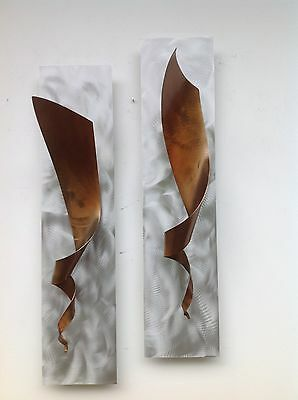 Metal wall art sculpture Distressed Abstract painting home decor by Holly Lentz