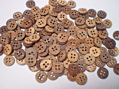 100 REAL COCOANUT BUTTONS SIZE 13mm