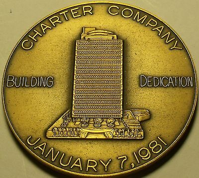 Massive Bronze Charter Company Building Dedication Medallion~Fortune 500~Free Sh