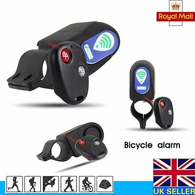 Bicycle Bike Anti Theft Security Alarm Warning Annunciator Lock with Remote
