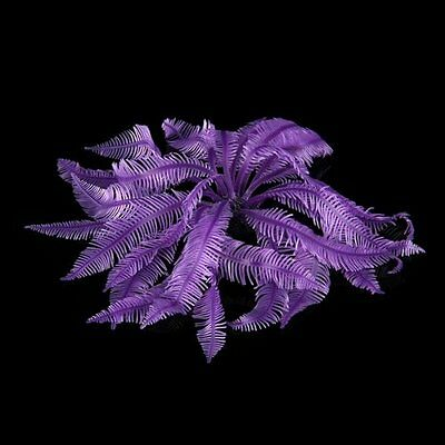 Corail Artificiel Violet En Plastique Decoration Aquarium M1