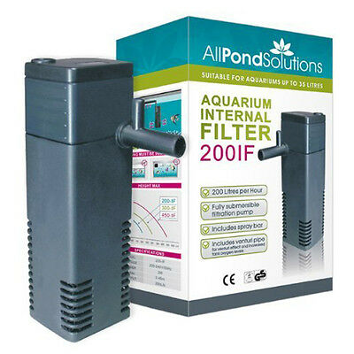 200IF Aquarium Internal Filter 200 Litre/ Hour - UK SELLER