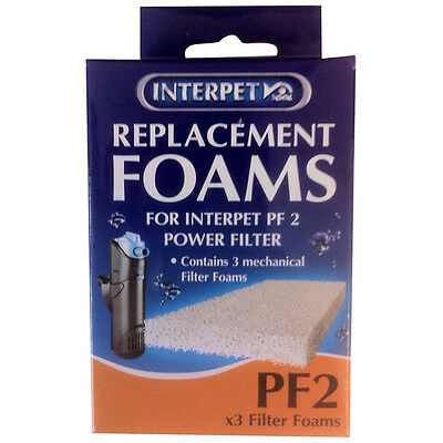 Interpet Replacement Plain Foams - PF2 (3 Pieces) - SAME DAY DISPATCH