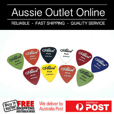 10pcs Acoustic Electric Guitar Picks Plectrums Various Colors .81mm