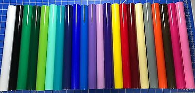 "Vinyl Cricut Oracal 651 Permanent Adhesive Vinyl 2 5ft Rolls X 12"" Choose Colors"