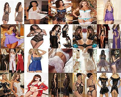 Sexy Lingerie Lace Dress Babydoll Women's Underwear Nightwear Sleepwear G-string