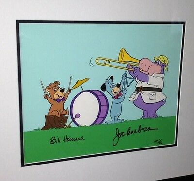 Hanna Barbera Huckleberry Hound cel Huck's Band Artist Proof Number 1 cell AP
