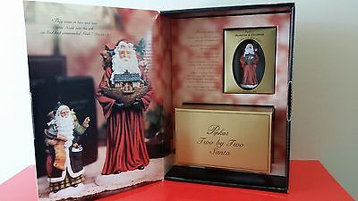 Pipka's Memories of Christmas 2000 Two by Two Santa Figurine & Ornament w/OB