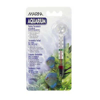 Marina Aquarium Floating Glass Thermometer with Sucker - SAME DAY DISPATCH