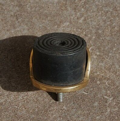 Vintage Solid Brass Door Back Stop Rubber Door Stopper.