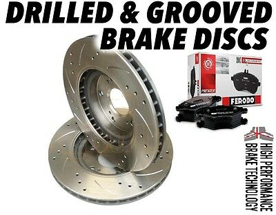 BMW 3 Series E30 260mm DRILLED GROOVED BRAKE DISCS FRONT & FERODO BRAKE PADS