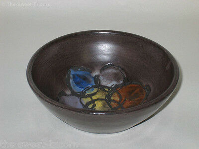 Betty McLaren Bowl, Abstract Floral Design. Australian Pottery