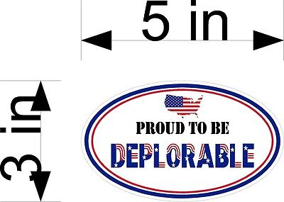 Proud To Be Deplorable Usa Oval Decal For Car Truck Window