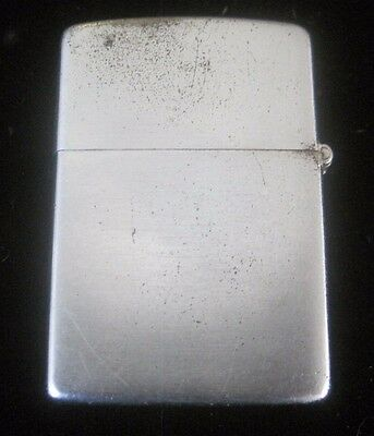 1950-1957 ZIPPO lighter WORKS GREAT FREE SHIPPING Patent Pending Vintage old
