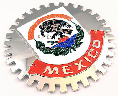 Grille Badge Mexico for car truck grill mount Mexican flag