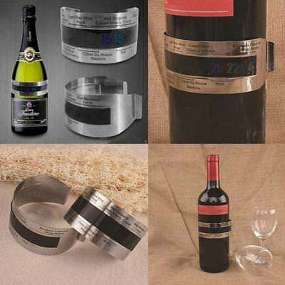 Stainless Steel Wine Bottle LCD Display Serving Bracelet Thermometer Checker G
