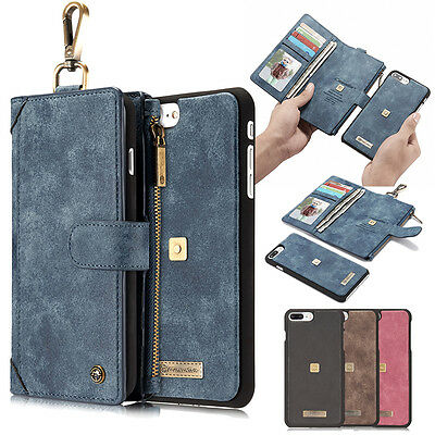 Luxury Leather Magnetic Wallet Card Flip Case Cover For Apple iPhone 7 7 Plus