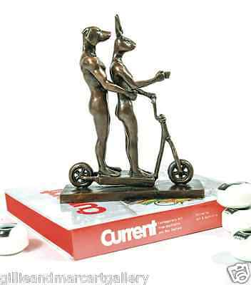 GILLIE AND MARC, Direct from artists. Authentic bronze sculpture 'scooter ride'