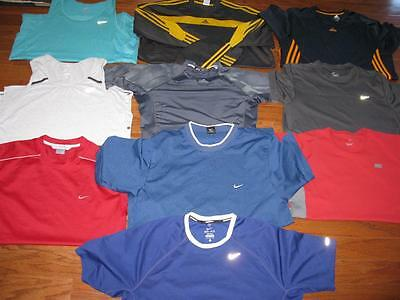 Lot Of 10 Adult Mens Nike Athletic Shirts Running Tees Tank Tops Dri-Fit Large