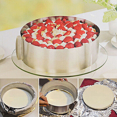 6-12Inch Adjustable Stainless Steel Round Ring Bake Tool Cake Size Mold Distinct