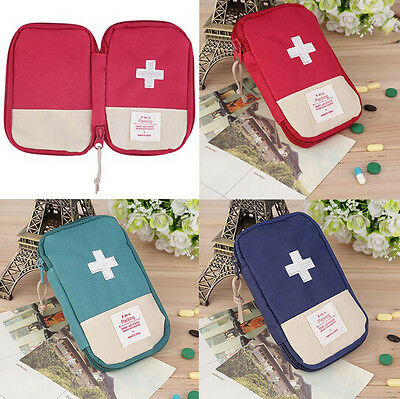 Case Outdoor Camping Portable Hot Survival First Aid Kit Medicine Home Bag New