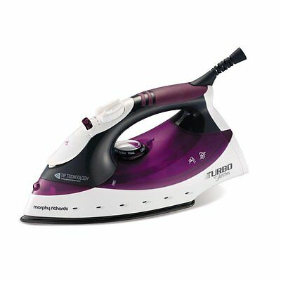 Morphy Richards 300102 Turbo Steam Iron 2000W in Purple/White - Brand NEW !!!!