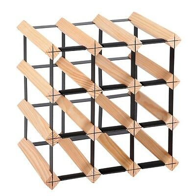 Timber Wooden Wine Rack 12 Bottles Organiser Storage Holder Stand Cellar Bar New