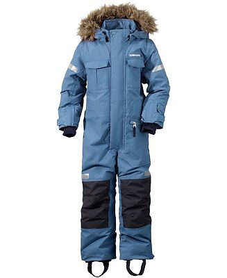 Didriksons Migisi Kids Snowsuit/Coverall - Coldsmoke Blue