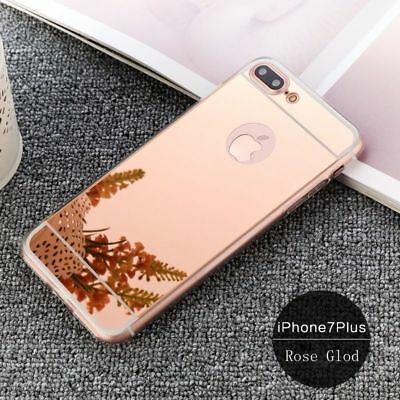 Luxury Ultra Slim Mirror Back Soft Silicone TPU Case Cover For iPhone 7 / 7 Plus