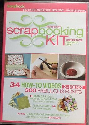 Scrapbook Answers Spring 2006 DVD-ROM PC MAC Printables Instructions Ideas Fonts