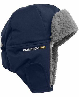 Didriksons Biggles Kids Winter Trapper Cap Hat - Navy