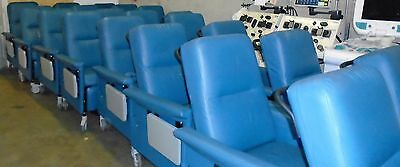 Champion 54 Series Patient Recliner Medical Dialysis Chair w/ 2 Side Tables
