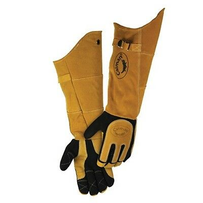 Pair of Padded Leather Long Welding Work Gloves