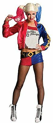 Womens Suicide Squad Deluxe Harley Quinn Halloween Costume, Large