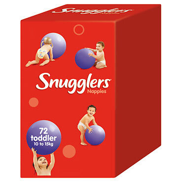 Snugglers Nappies Toddler 10-15kg JUMBO 72 (Limit of 1 per order) NEW
