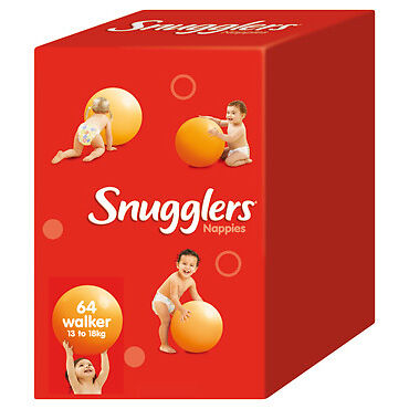Snugglers Nappies Walker 13-18kg JUMBO 64 (Limit of 1 per order) NEW