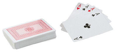 Decks of Professional Classic Plastic Coated Playing Cards Poker Size - Red