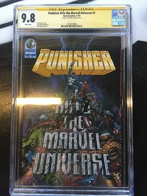 Punisher Kills The Marvel Universe #1 Cgc Ss 9.8 Signed By Stan Lee 1St Print 95