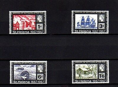 St Helena - 1967 - Great Fire Of London - Ships - Settlers + Mint  Mnh Set Of 4!