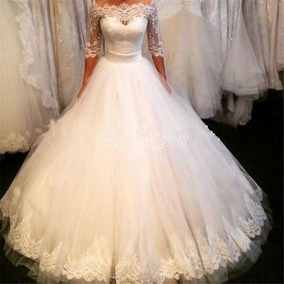 Hot Sexy A-Line White/Ivory tulle Wedding Dress Bridal Gown Custom Plus Size