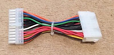 ATX 20 Pin Female to 24 Pin Male F/M Power Supply Adapter Cable for Motherboard
