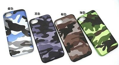 10pcs/lot Camouflage Soft TPU Silicone Phone Back Case Cover for iPhone 7 7G