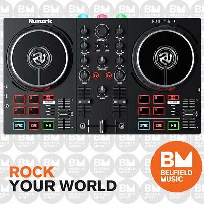 Numark Partymix DJ Controller 2-Channel with Built In Lights Show Party Mix - BM