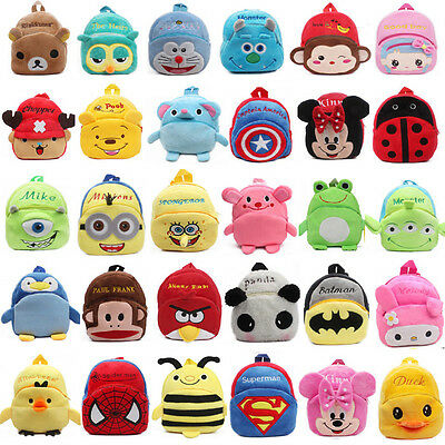 Nursery Boys Girls Kids Cartoon Baby Toddler Backpack Schoolbag Bags Rucksack