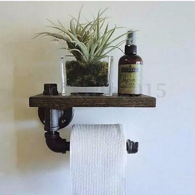 2-Layer Industrial Urban Style Metal Iron Pipe Double Toilet Paper Holder Roller