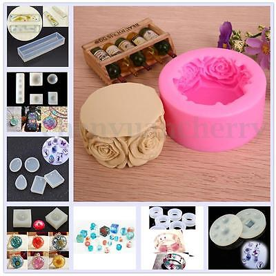Silicone Rose Soap Ring Mould Cake Baking Mold Candle Pan DIY Handmade Craft