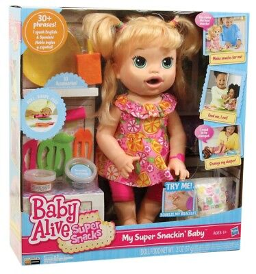 NEW Baby Alive My Super Snackin Sara from Mr Toys Toyworld